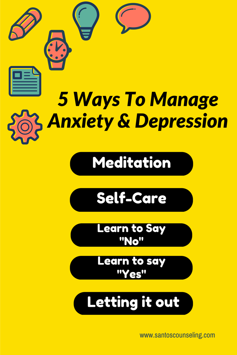 5 ways to deal with anxiety